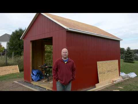 Shed Build 11 - Fly Rafters and More