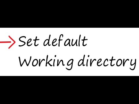 Creo - How to Set default Working directory
