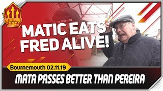 Matic Better Than Fred! Bournemouth 1-0 Manchester United fan cam