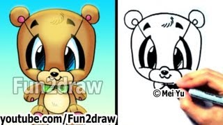 How to Draw Easy - How to Draw a Teddy Bear - Cute Drawings - Cute Art - Fun2draw