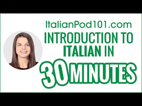 Introduction To Italian In Minutes