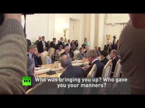 Russian FM scolds US journalist during Tillerson meeting