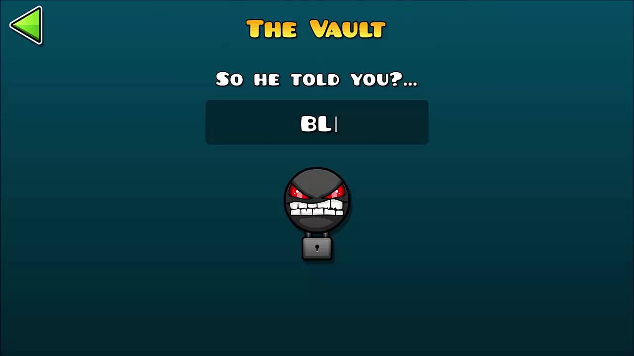 THE VAULT PASSWORDS/ LAS CLAVES DE THE VAULT GEOMETRY DASH - YouTube