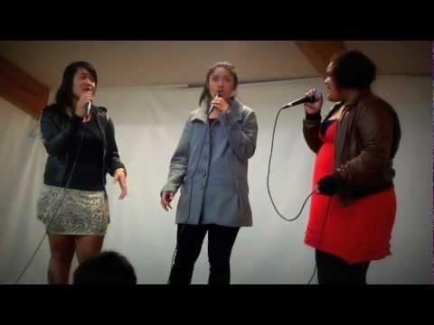"Excel girls sing ""Gospel Medley"" by Destiny's Child"