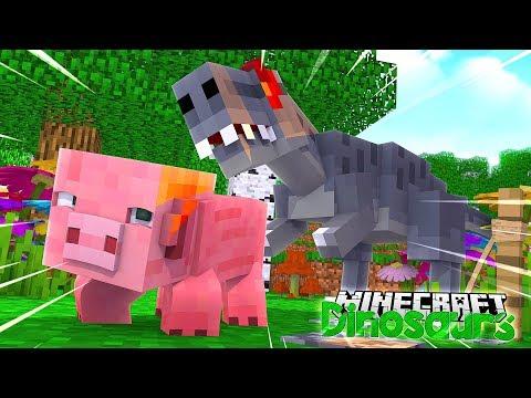THE ALLOSAURUS ATTACKS! - Minecraft Dinosaurs W/ Little Lizard