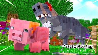 THE ALLOSAURUS ATTACKS - Minecraft Dinosaurs w Little Lizard