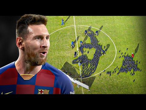 We Made Lionel Messi Out Of 700 Footballs After His 700th Goal