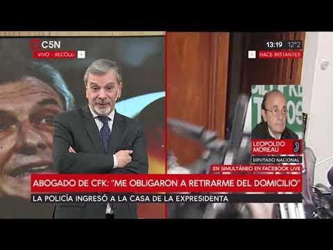 Finalizaron los allanamientos a Cristina Kirchner