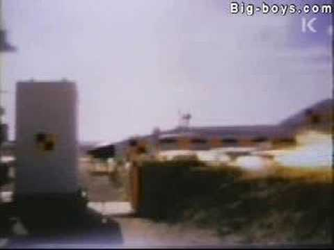 Jet airplane crash test