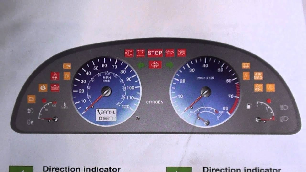 Citroen Xsara Airbag Light How To Turn It Off Youtube