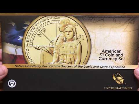 American $1 Coin And Currency Sets - Enhanced Uncirculated Dollar Coins