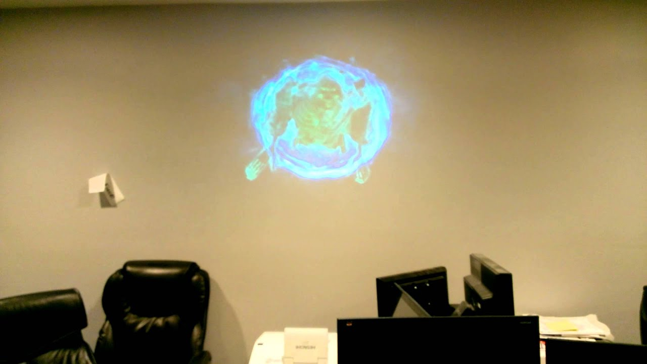 Ghost Wall test Short Throw Projector - YouTube