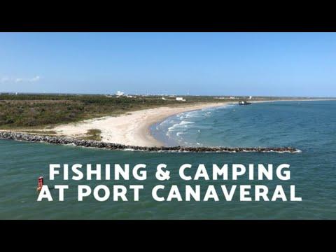 FISHING & CAMPING At PORT CANAVERAL   Jetty Park   Florida Beach Camping