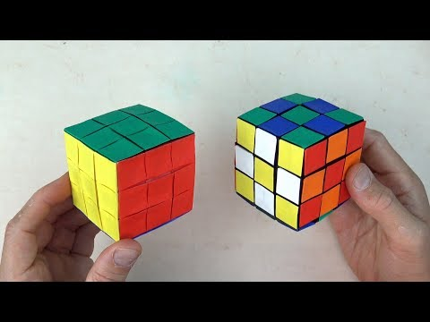 Origami Rubik's Cube - No Glue - From 6 Squares of Paper