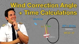 WIND CORRECTION ANGLE + Time calculations in Holding Part 3 / EXPLAINED by CAPTAIN JOE