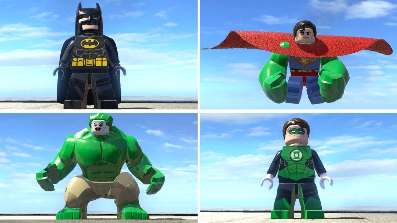 HULK Transformation w/ Batman Superman Joker Green Lantern Flash in Lego Marvel Super Heroes