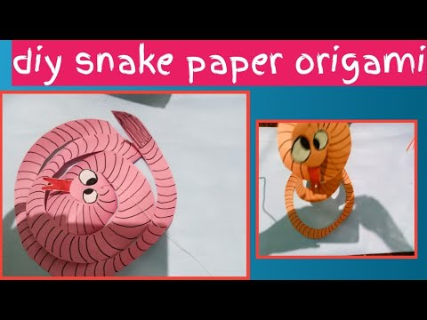 DIY SNAKE PAPER ORIGAMI FOR KIDS PROJECT/HAPPY NAAG PANCHAMI😥