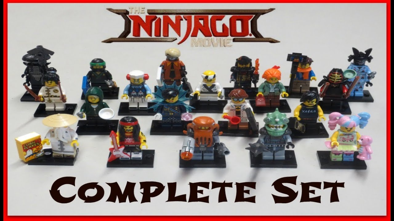 Ninjago LEGO Movie Minifigures - Full Set & Bump Codes ...