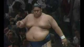 Konishiki vs. Hoshikabuto : Natsu 1984 (小錦 対 星甲)