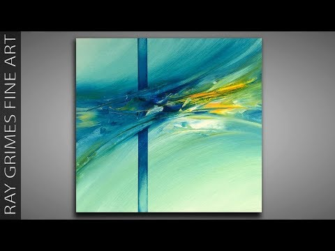 Simple Abstract Painting / 170 / Painting Tricks / Relaxing / Abstract Art / Painting Techniques