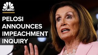 House Speaker Nancy Pelosi to announce formal impeachment inquiry – 09/24/2019