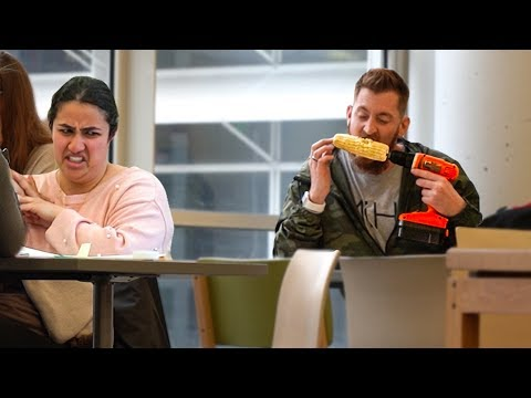 Eating Food Loudly in the Library! Funny Prank Videos