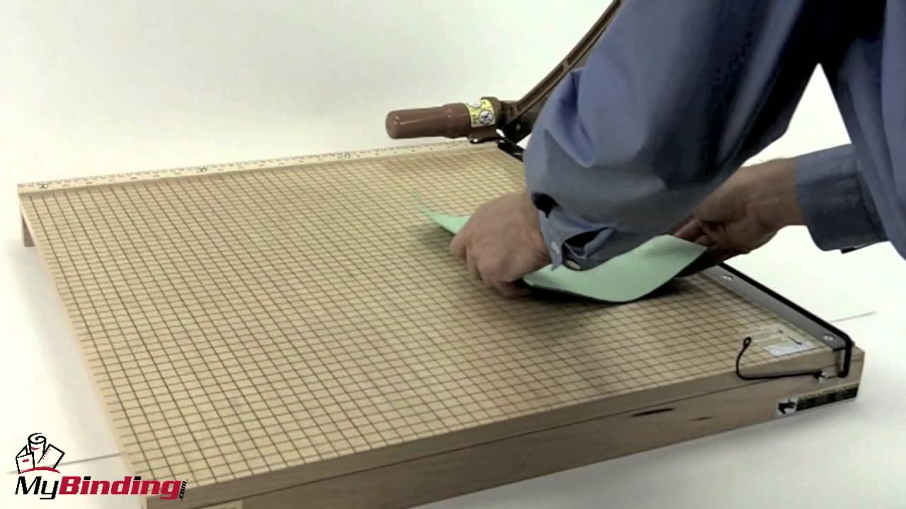 how to use paper cutter  youtube