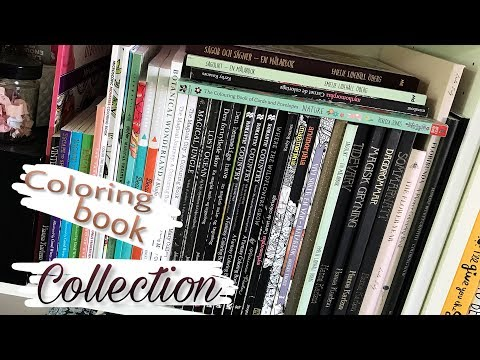 COLORING BOOK COLLECTION: Finished pages & WIPs 2017
