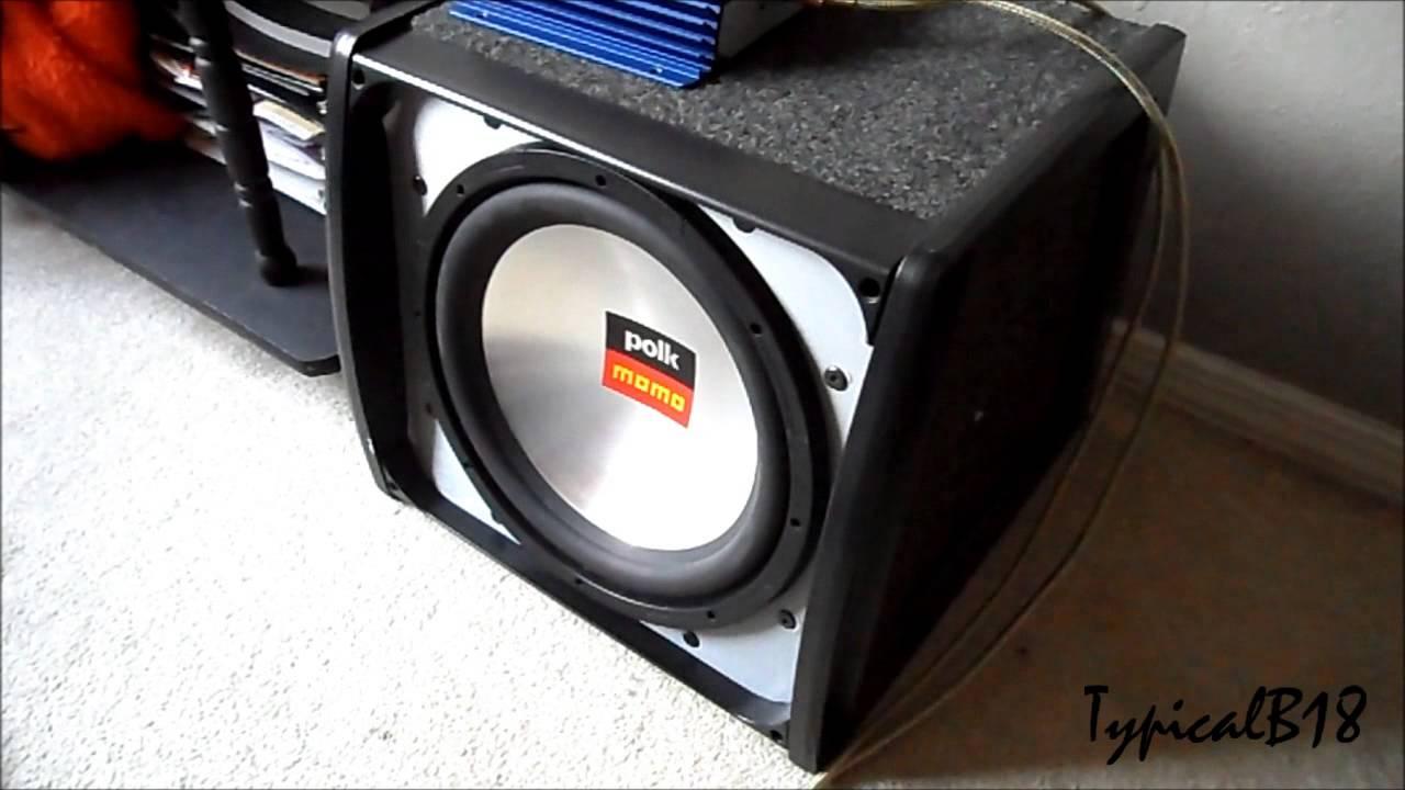 Polk Audio Momo MM2124 & Q-Logic Type 1 Enclosure Video Look/Review ...