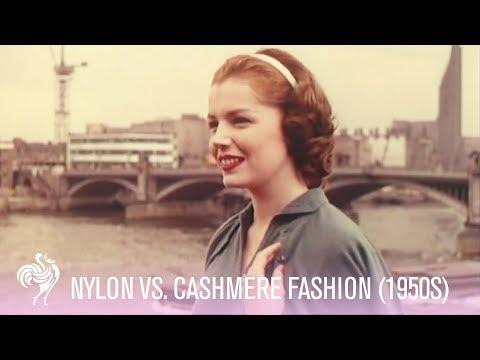 Vintage Fashion - 1950s Fashion Footage - Nylon Vs. Cashmere