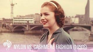 Vintage Fashion - 1950s Fashion Footage - Nylon Vs. Cashmere