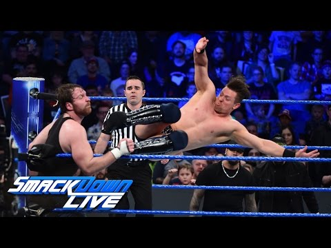 Dean Ambrose vs. The Miz - Intercontinental Title Lumberjack Match: SmackDown LIVE, Jan. 24, 2017