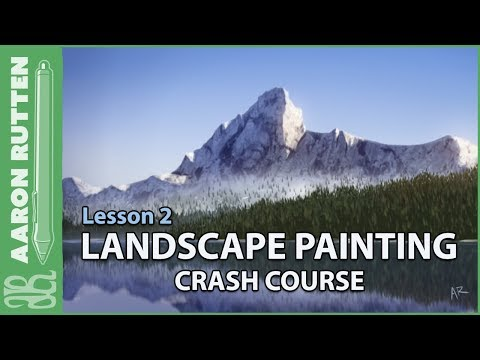 Mountain Reflection – Landscape Painting Crash Course (Lesson 2)