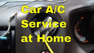 How to service Car ac at Home! 2 Steps only ! कैसे करे घर पर कार AC Service!