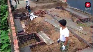越南農村蓋紅磚房,牆體裡的鋼筋是如何安裝的? thumbnail