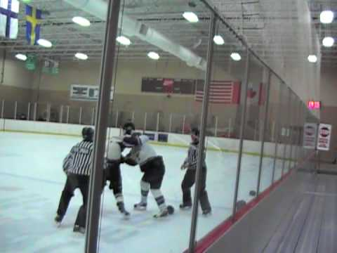 Midget hockey fight