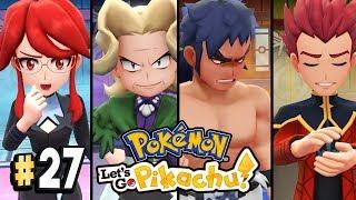Pokemon Let's Go Pikachu Part 27 ELITE FOUR Walkthrough Gameplay