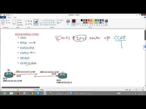 IPV6 routing using RIPng protocol