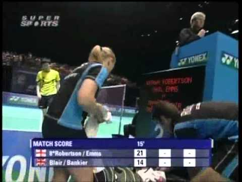 all england open 2008 Nathan ROBERTSON 8 Gail EMMS vs Robert BLAIR Imogen BANKIER All England Open 2008 Quater Final1
