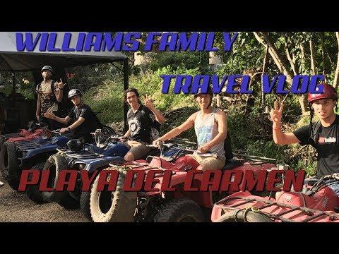 Travel Vlog  Playa Del Carmen, Mexico  The Williams Fam