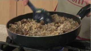 Mushroom, Walnut And Barley Pilaf