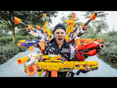 LTT Nerf War : SEAL X Special Warriors Nerf Guns Fight Crime Group Dr.Lee Crazy Wanted Boss