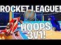 ROCKET LEAGUE CHAOS HOOPS 1V3 VS THE NICE SQUAD!