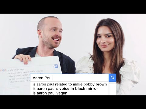 Emily Ratajkowski & Aaron Paul Answer the Web's Most Searched Questions | WIRED