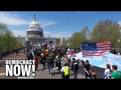 Democracy Spring: Over 400 Arrested at U.S. Capitol Protesting Corruption & Money in Politics