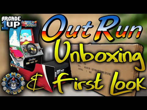 Outrun Sit Down Arcade 1up - Unboxing and First Look!! from Kongs-R-Us
