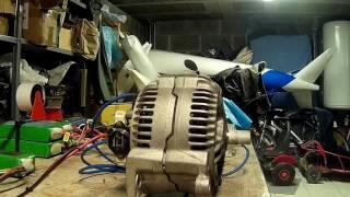 teste de alternateur en moteur brushless