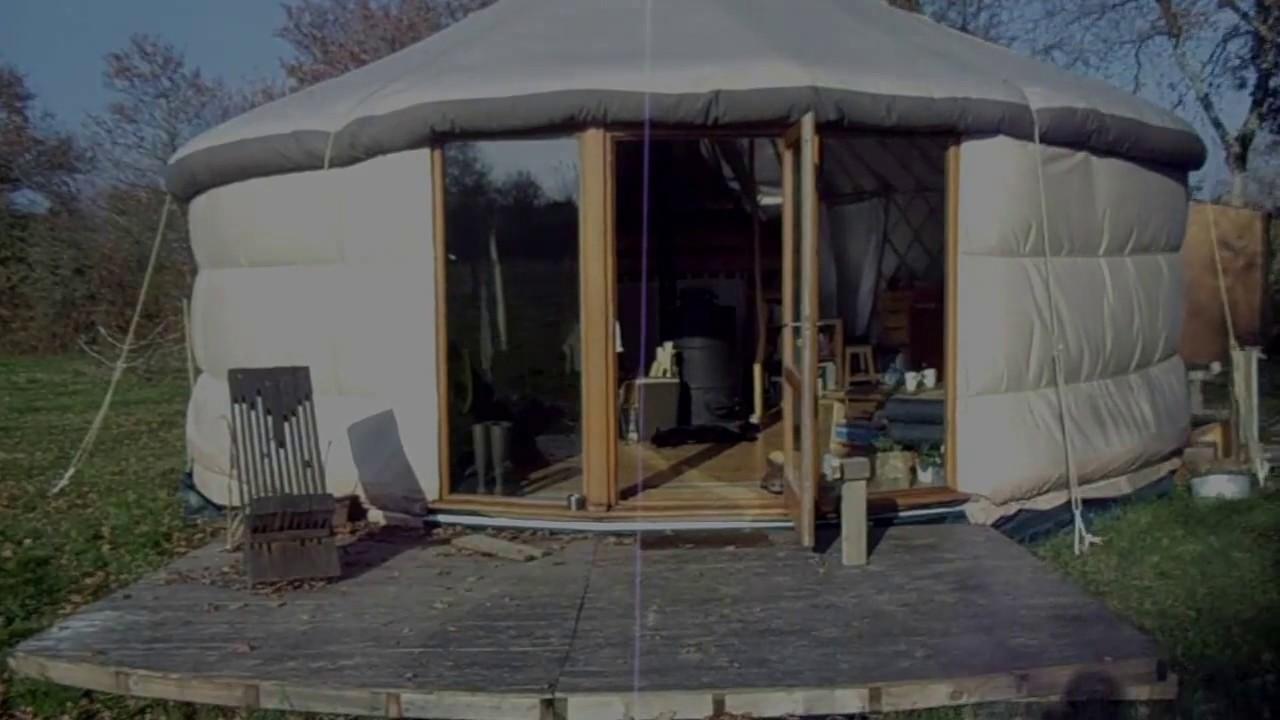 tour2yourte visite yourte d 39 habitation contemporaine auto construite youtube. Black Bedroom Furniture Sets. Home Design Ideas