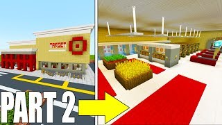 "Minecraft Tutorial: How To Make A Target Store ""2019 City Tutorial"" PART 2"