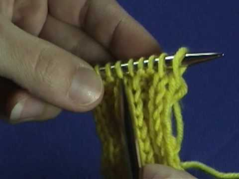 How to tell the difference between a knit stitch and a purl stitch - YouTube